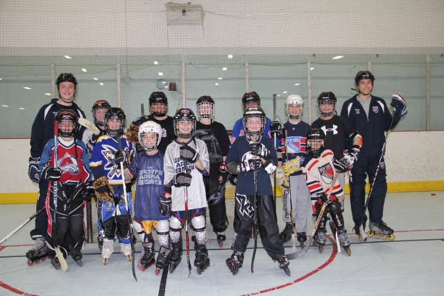 Roller hockey participants pose for a photo at The Sports Arena in St. James. Photo courtesy of Connor Negri and Michael Tarquinio.
