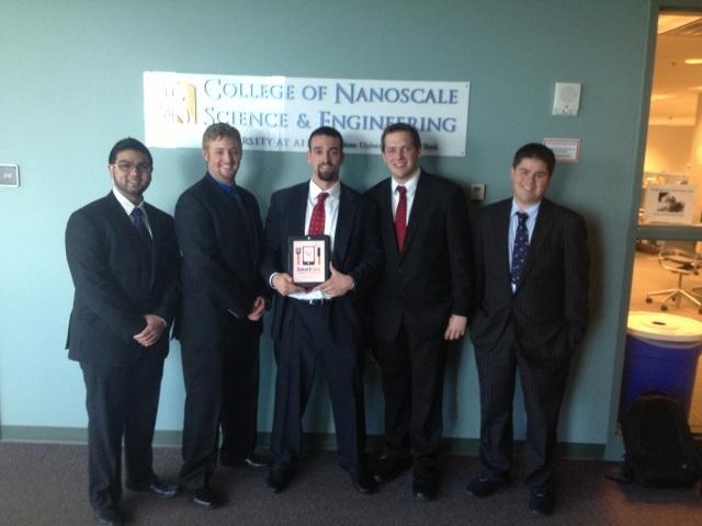 SmartLine team: Bimal Patel, Charlie Torsiello, Daniel Reitman, Zach Mitchell, Brandon Borresen