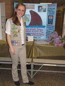 Sarah Jackson Presenting her Gold Award Project